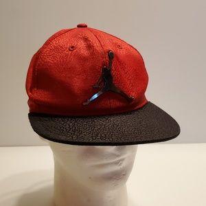 Jumpman baseball hat cap with metal Jordan logo.